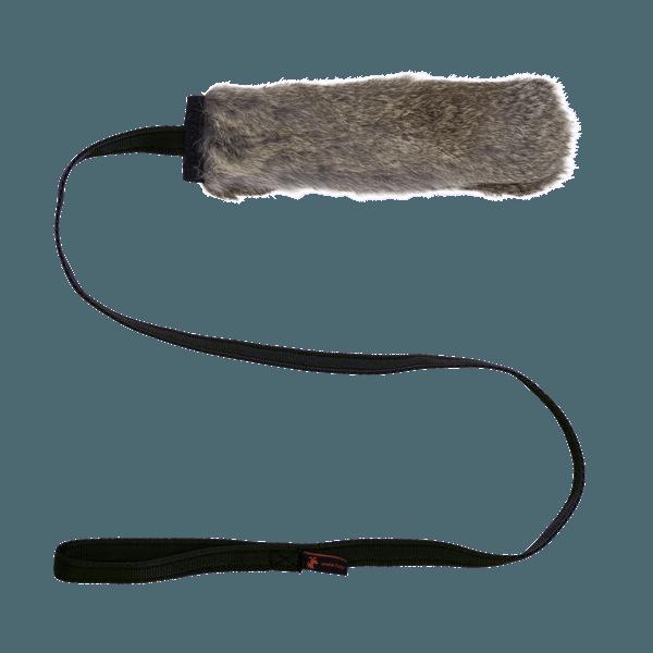 Tug-E-Nuff Jaktleksak med kaninskinn och pip